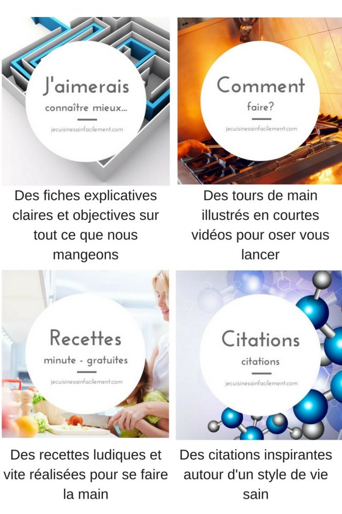 Bibliothèque de ressources gratuites en ligne pour cuisiner sainement et facilement