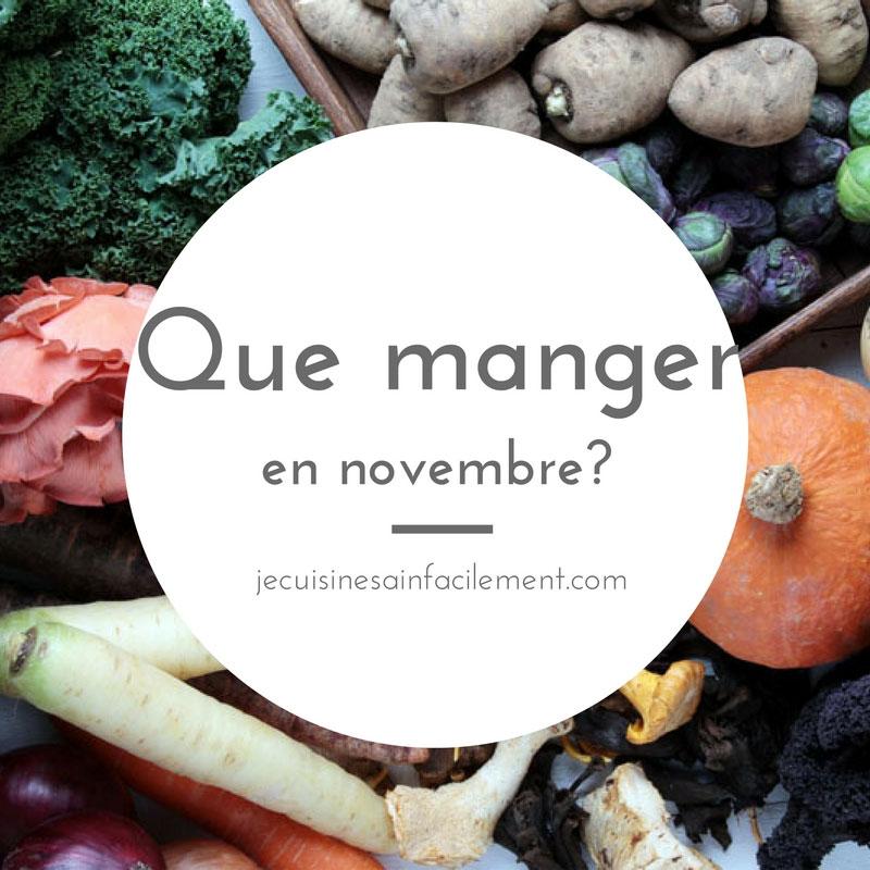 Que manger en novembre?