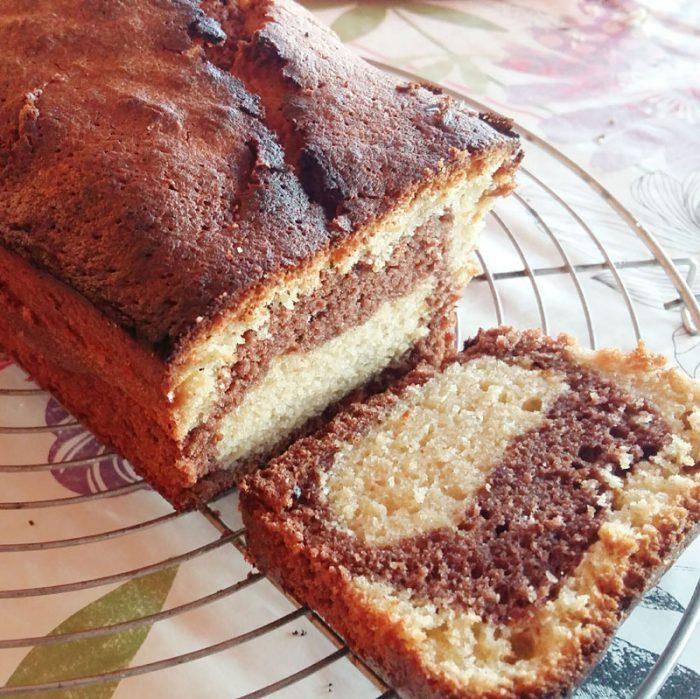 Cake marbré, première