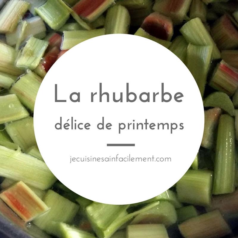 Rhubarbe, délice de printemps